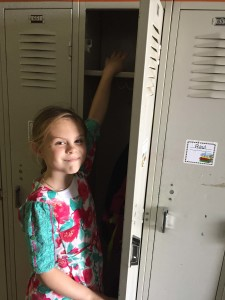 At Butte Creek School, even 1st Graders have their own lockers.