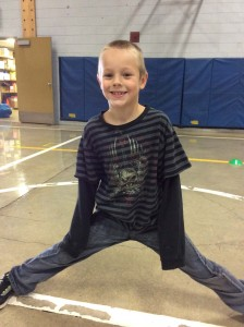 Jevyn Slover, 2nd grade, enjoying P.E. Time at Scotts Mills.