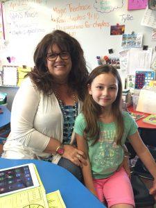 Pratum 1st/2nd grade teacher Sandra Buchheit with student Ella Haury, grade 2.