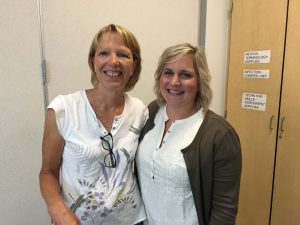Scotts Mills teachers Karen Steers and Kelly Satern are excited to be team teaching the kindergarten class this year.