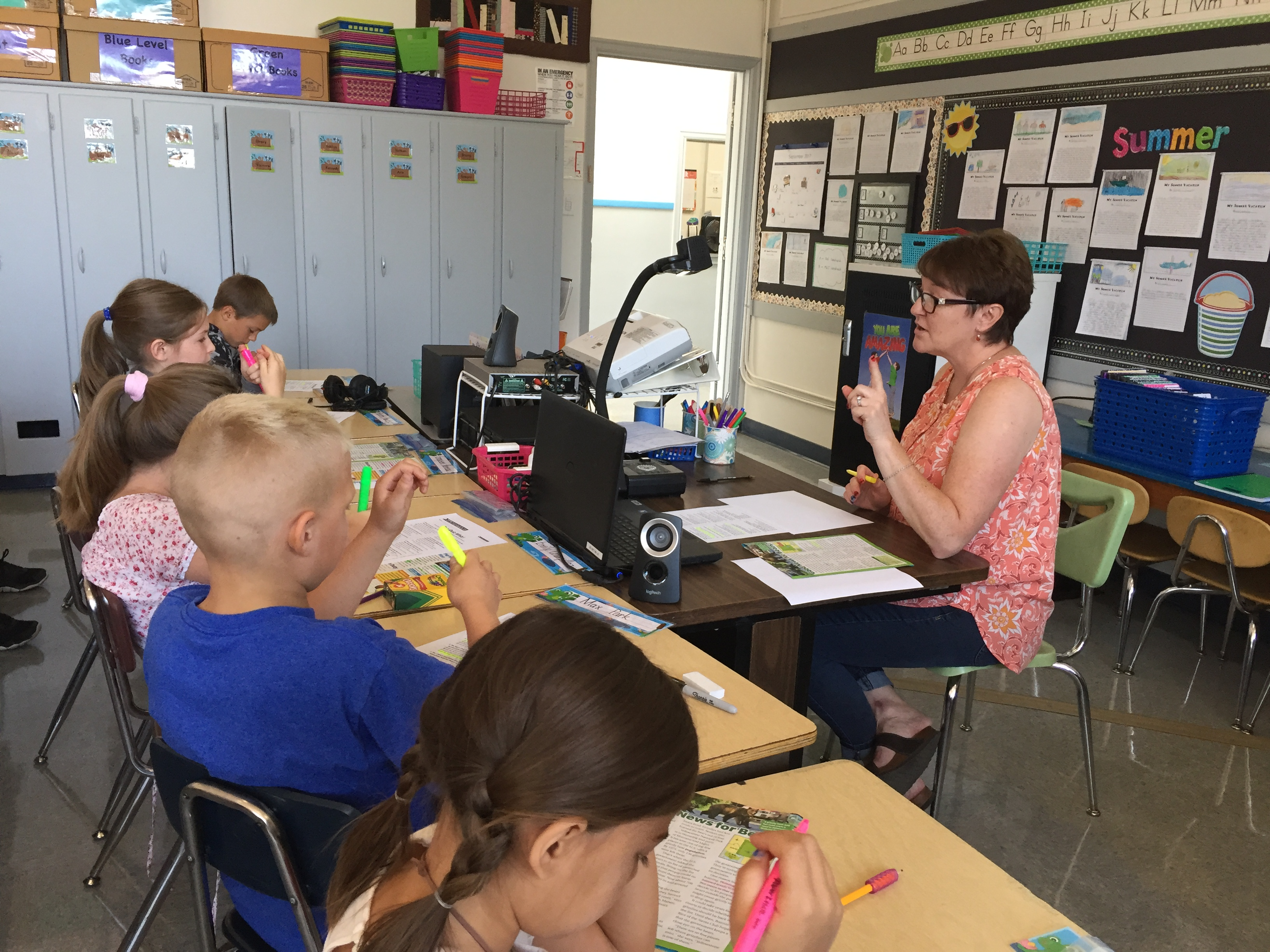 Victor Point teacher Lisa Friesen explores the constitution with her 3rd grade class.