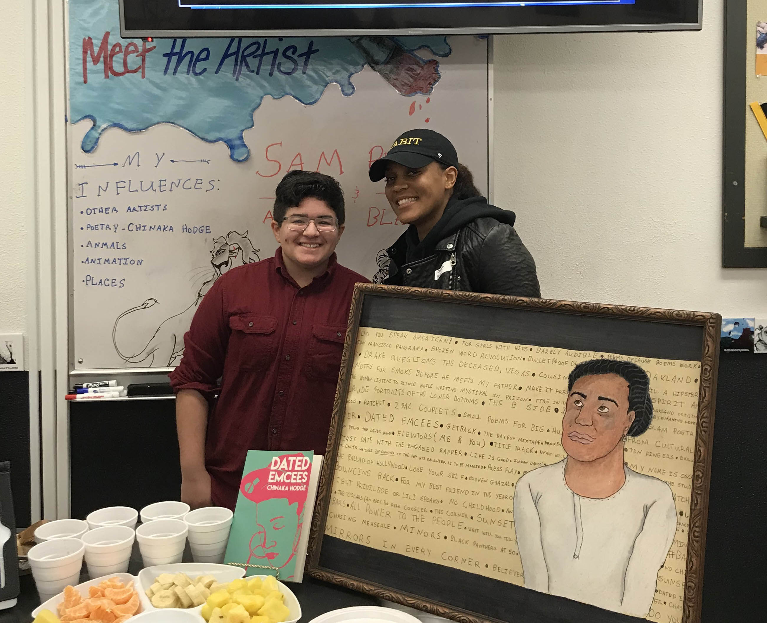 American Poet Chinaka Hodges surprised a Silverton Middle School student with a special visit this month
