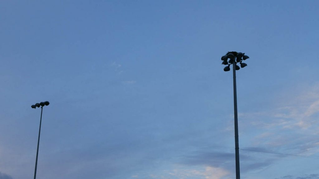 The Osprey Nest atop the light pole on the SHS soccer field