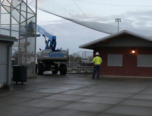 Osprey Platform Goes up over SHS lights
