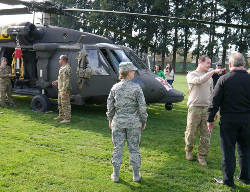 Honor, Celebration, and a Helicopter Landing for Silverton Middle School Veteran's Day Event
